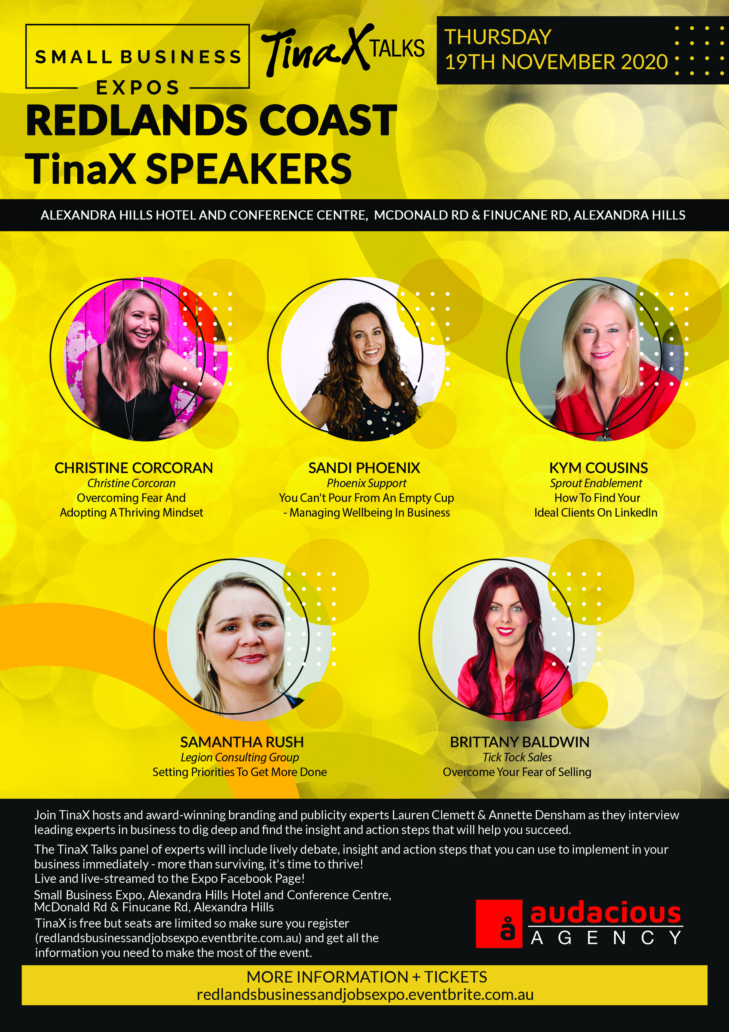 Business Expos | Brisbane | Gold Coast | Small Business Expos | Redlands Coast Tinax Flyer