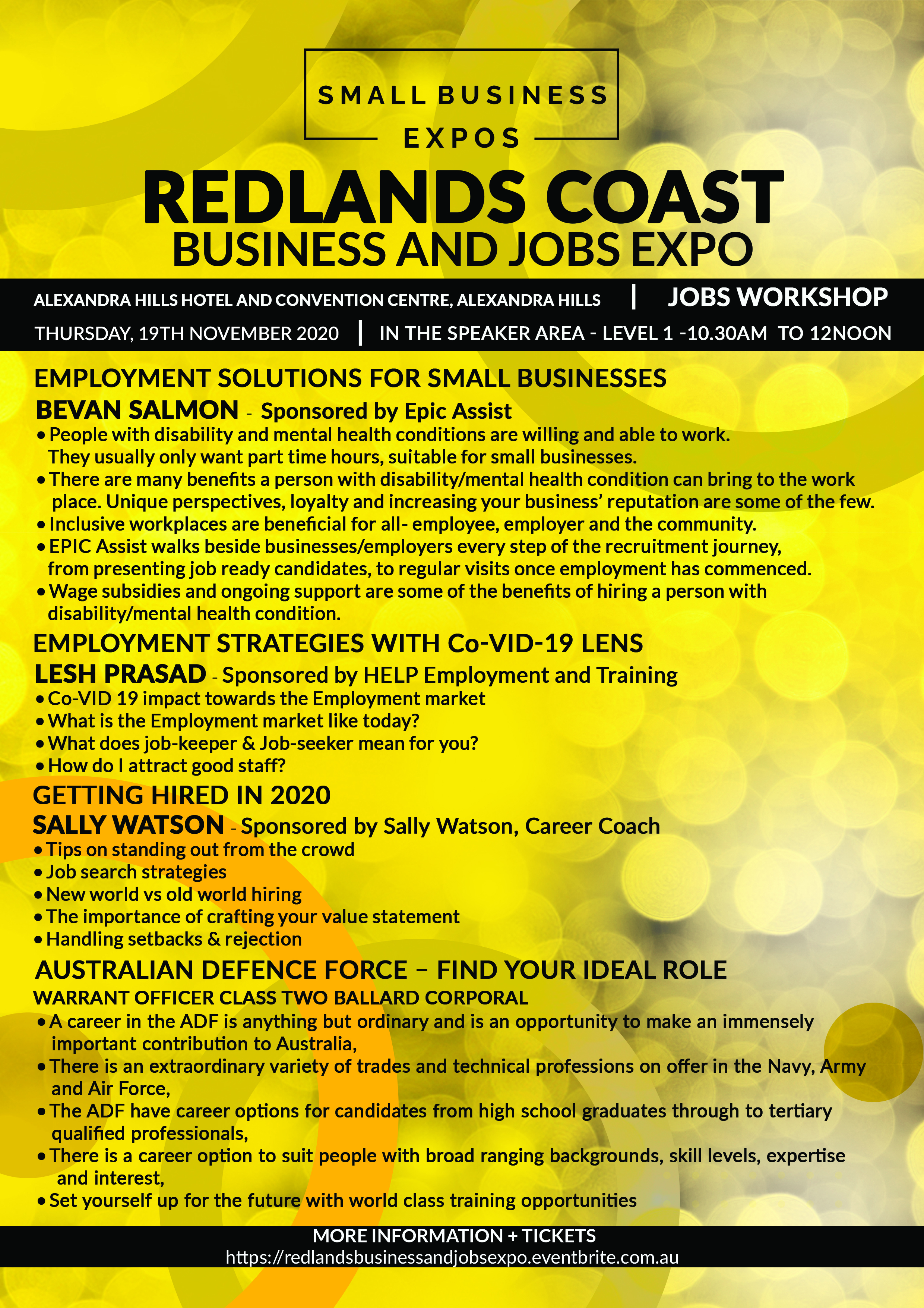 Business Expos | Brisbane | Gold Coast | Small Business Expos | Redlands Job Workshop