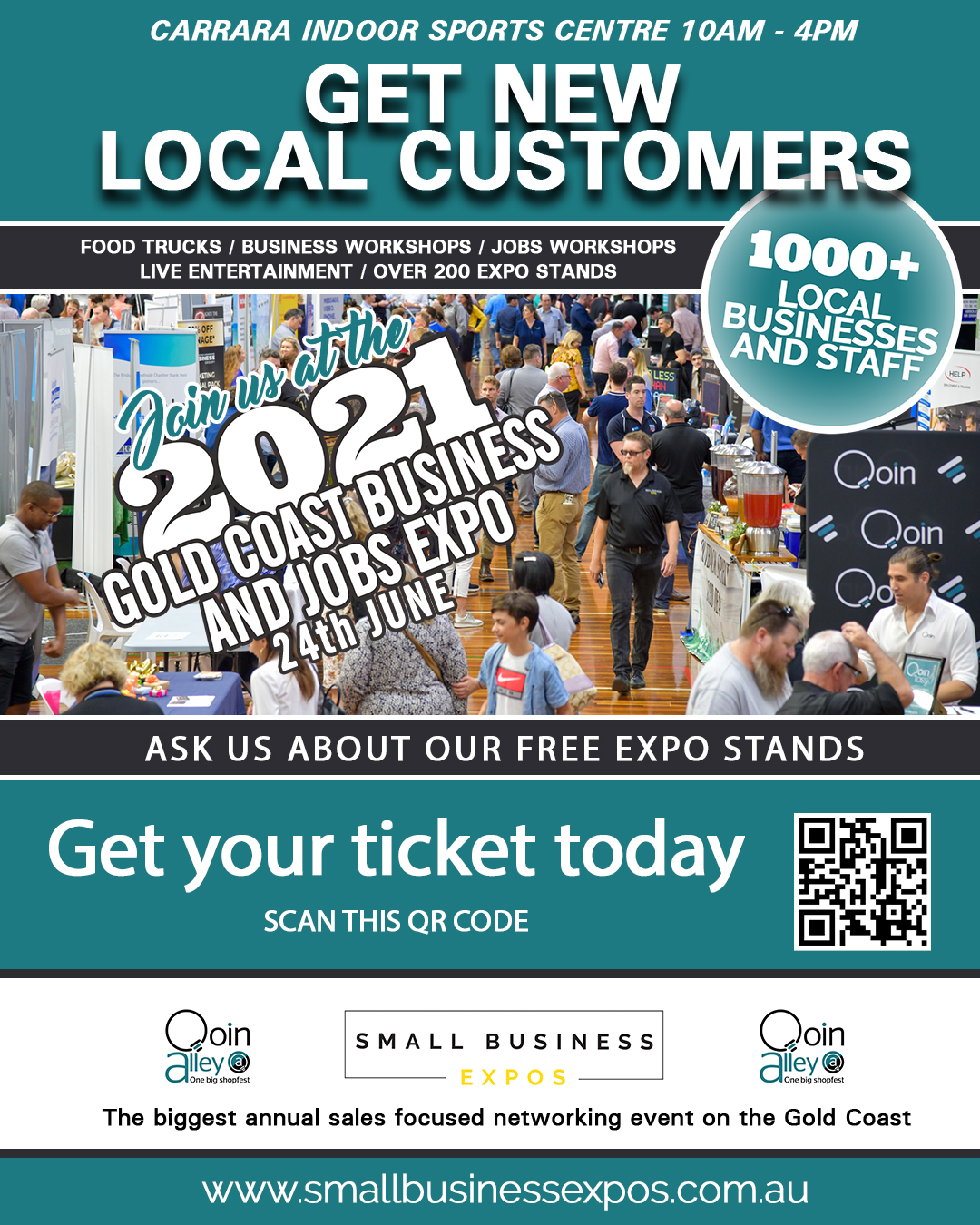 Gold Coast Small Business Expo LinkedIn Post Image Ticket QR-Code